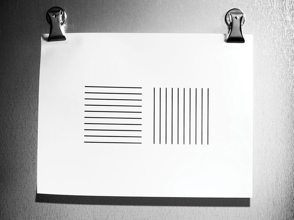 Horizontal vs. Vertical stripes: Breaking your beliefs!